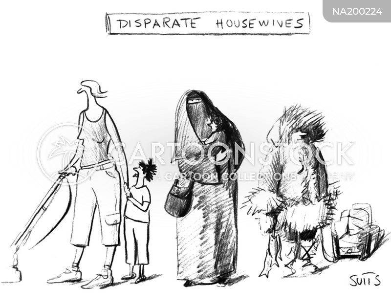housewife cartoon