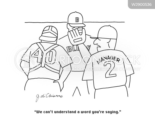 huddle cartoon