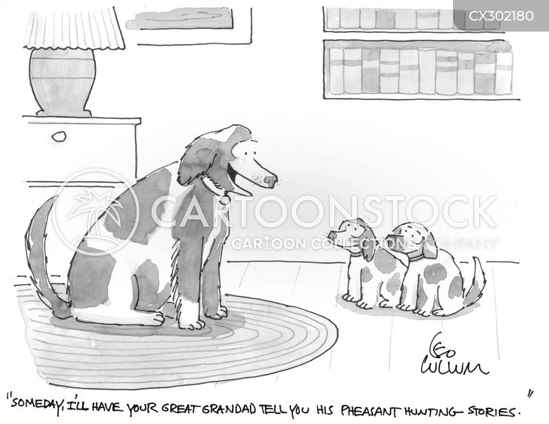 pointing dogs cartoon
