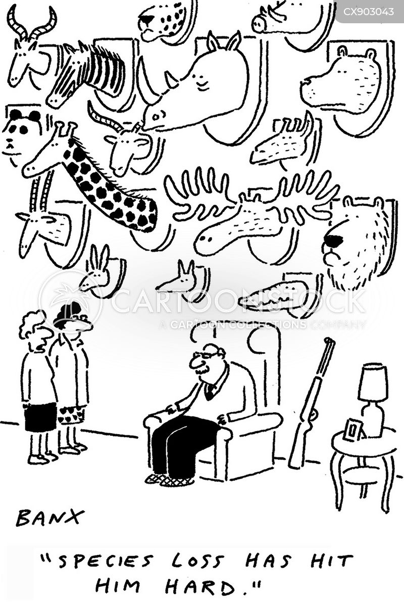 hunting trophy cartoon