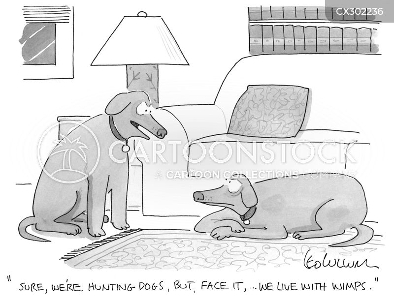 working dogs cartoon