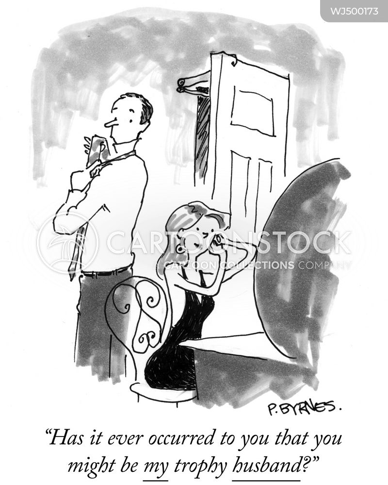 trophy wives cartoon
