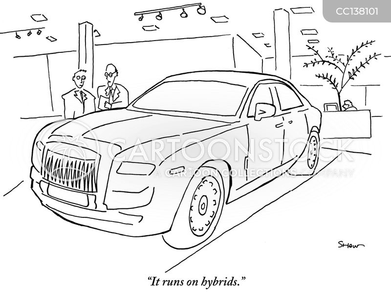 hybrid car cartoon