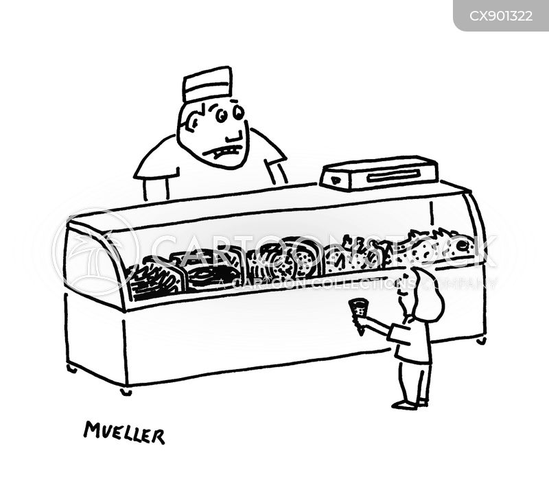 ice cream shop cartoon