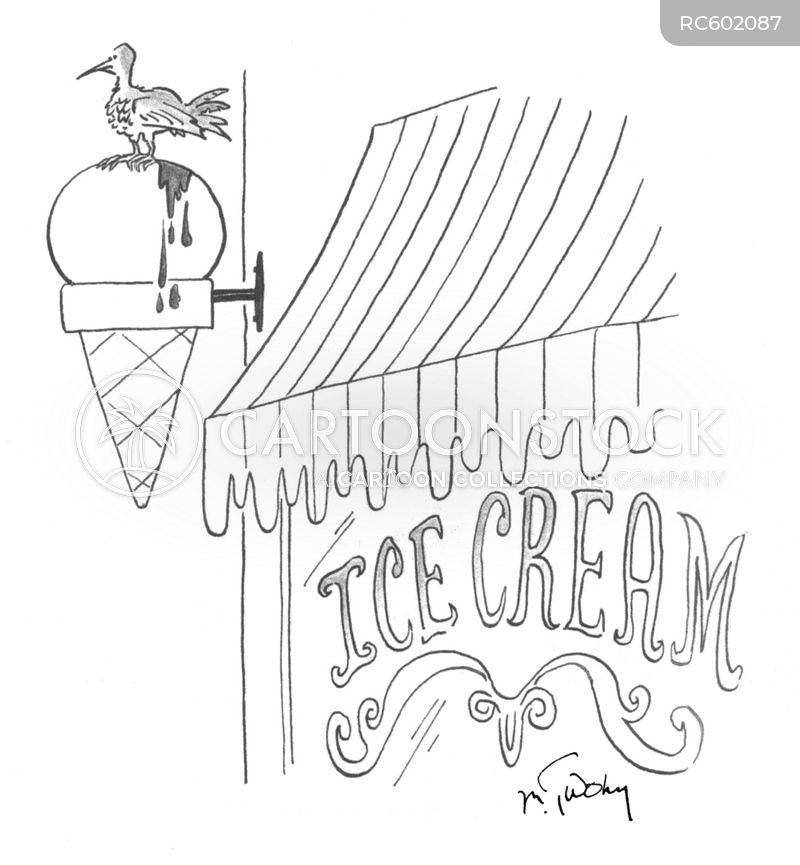 ice cream parlors cartoon