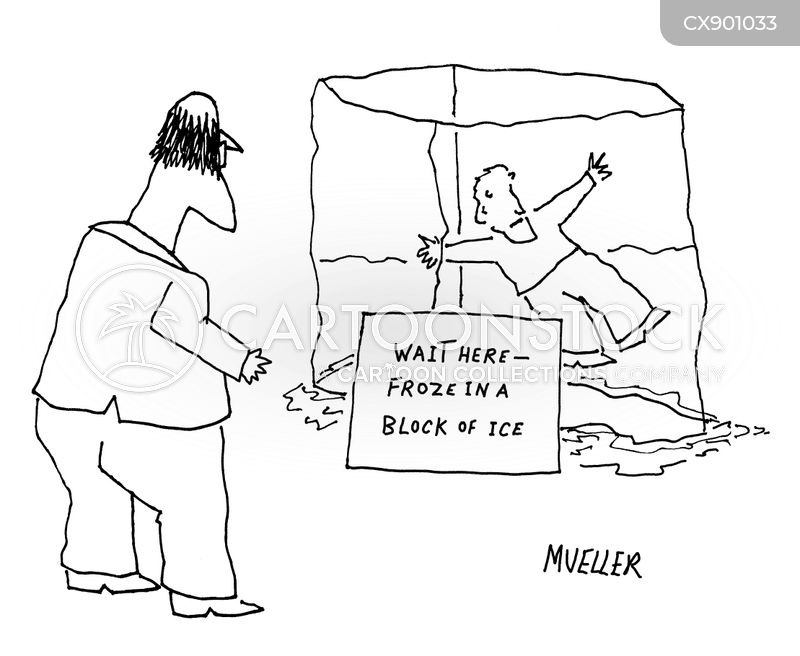 ice block cartoon