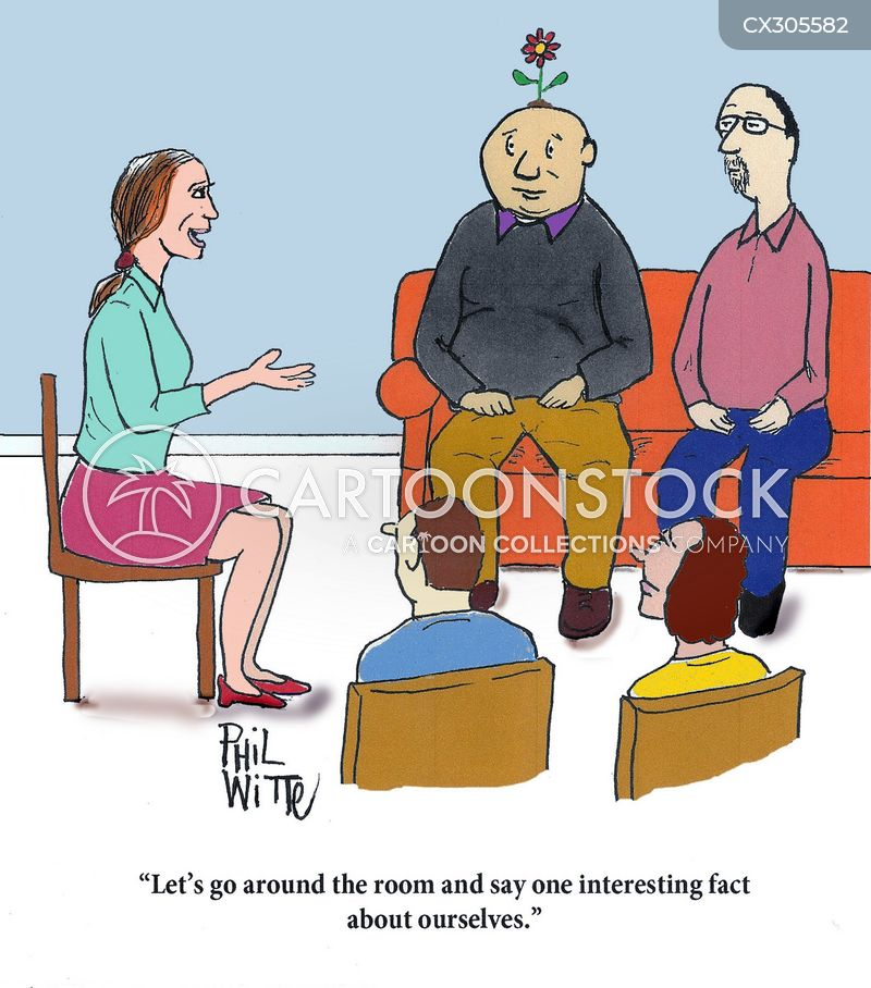 group therapists cartoon