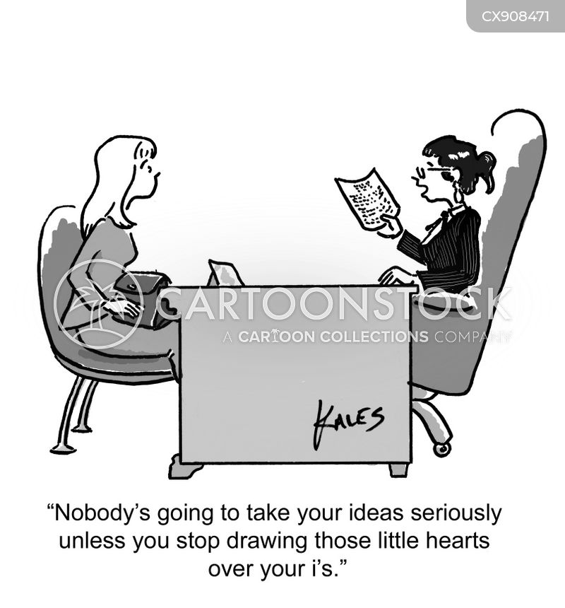 handwriting cartoon