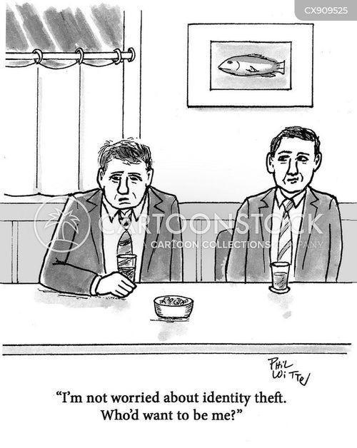 identity thefts cartoon