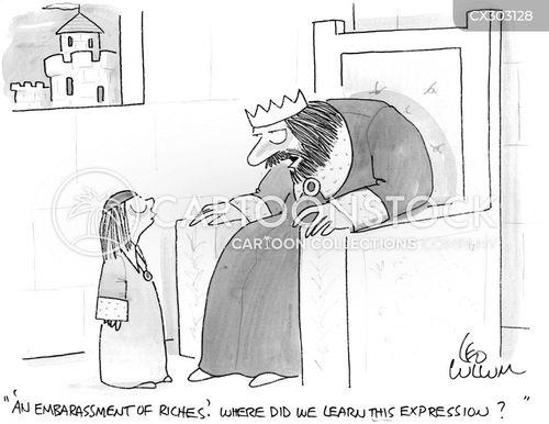 wealthy person cartoon