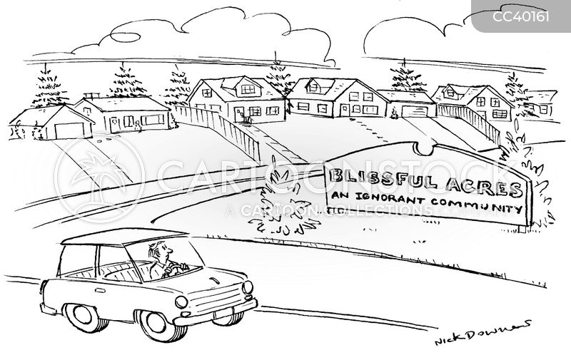 suburban cartoon