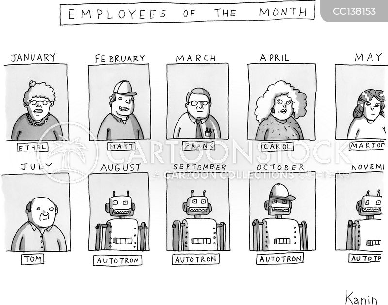 Robotics Engineers cartoon
