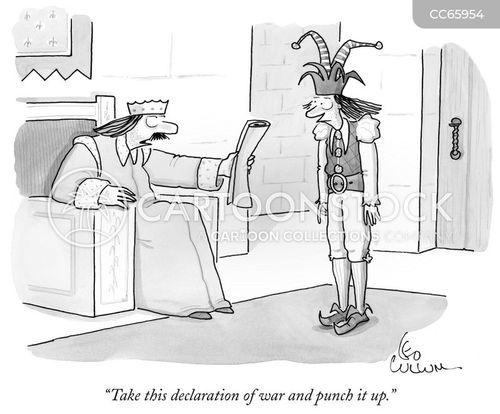 court jester cartoon