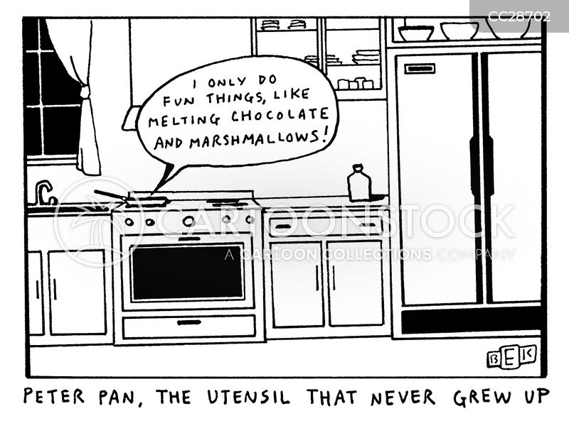 kitchen utensils cartoon