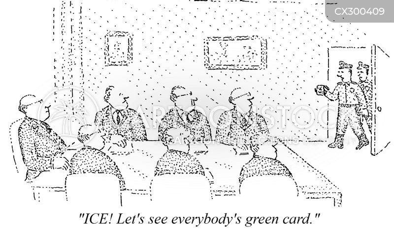green card cartoon