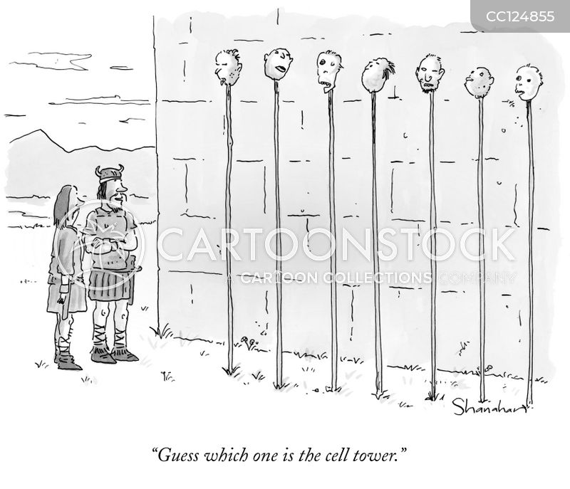 cell phone towers cartoon