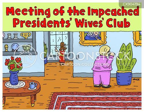 political scandal cartoon