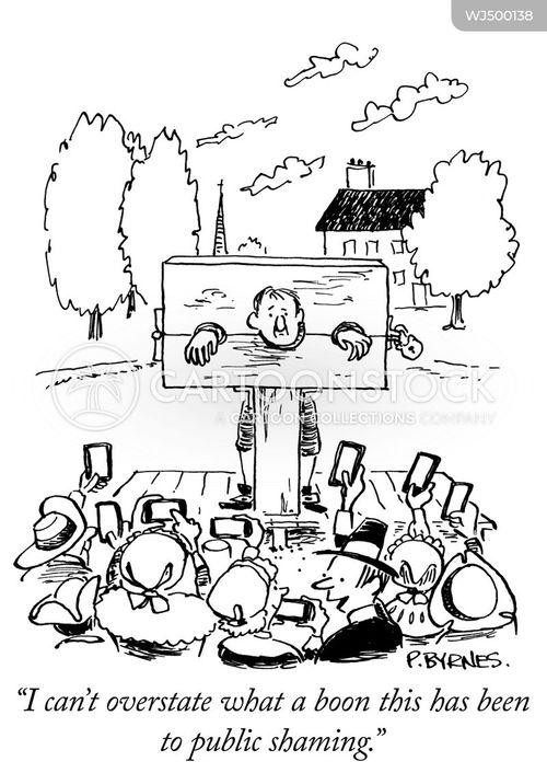 in the stocks cartoon