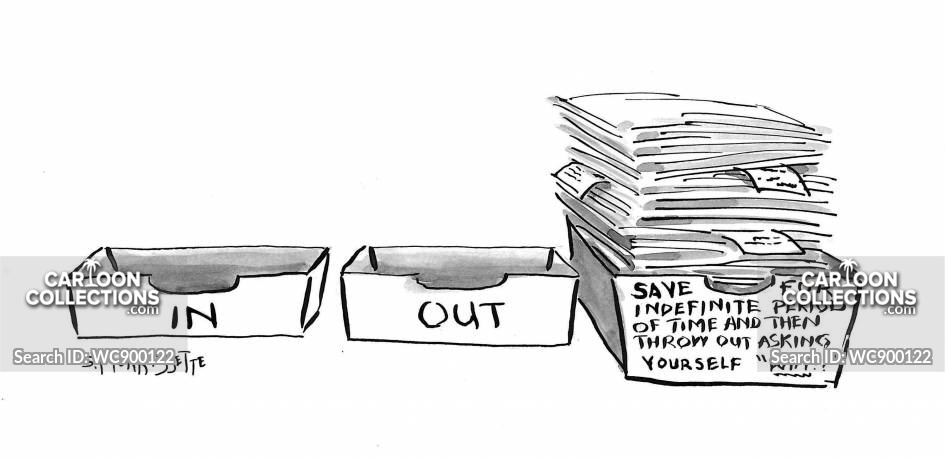 inboxes cartoon