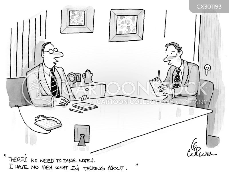 note takers cartoon