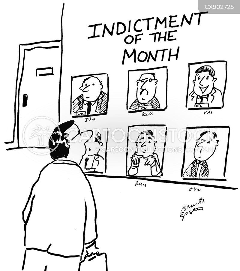 indictments cartoon