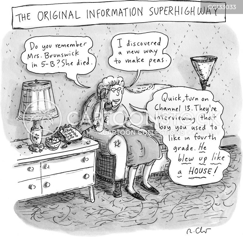 information super highways cartoon