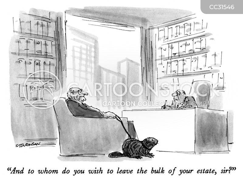 leaving a will cartoon