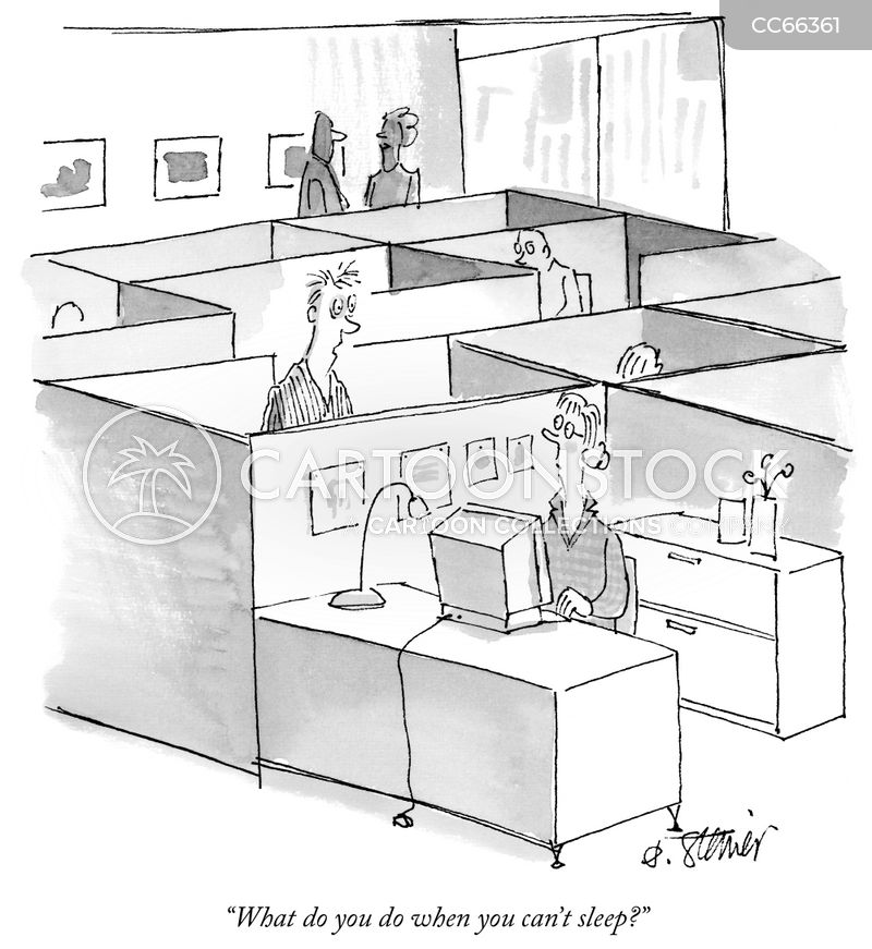 office cubicle cartoon