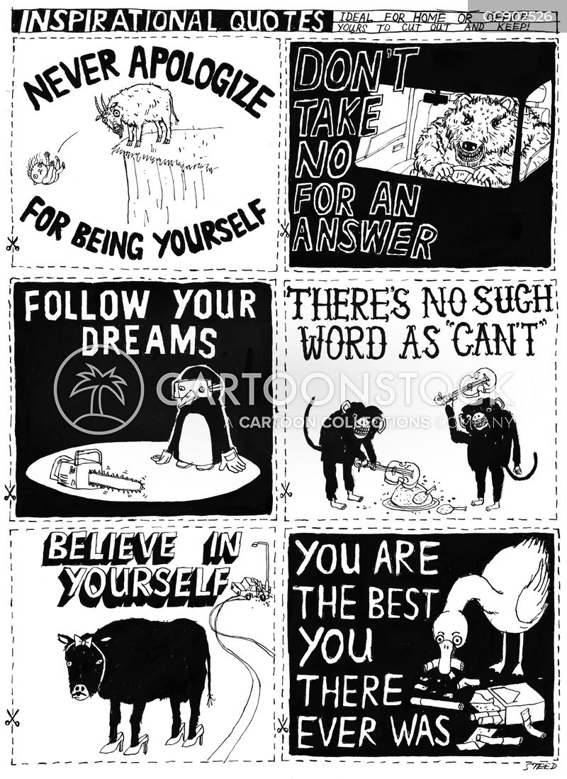 inspirational quotes cartoon