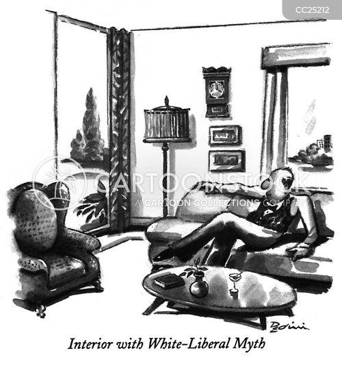 white liberal myths cartoon