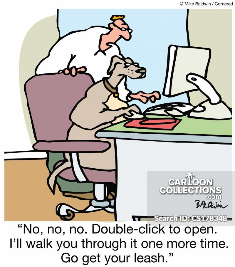 Double Click cartoon