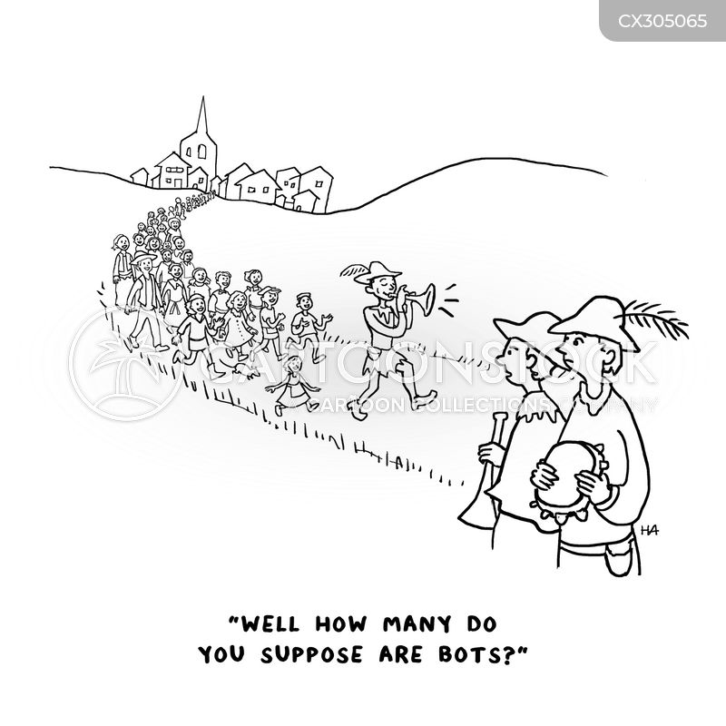 internet bot cartoon