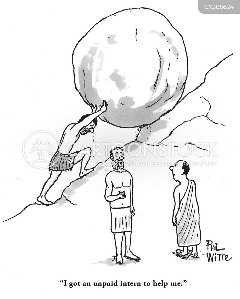 sisyphean task cartoon