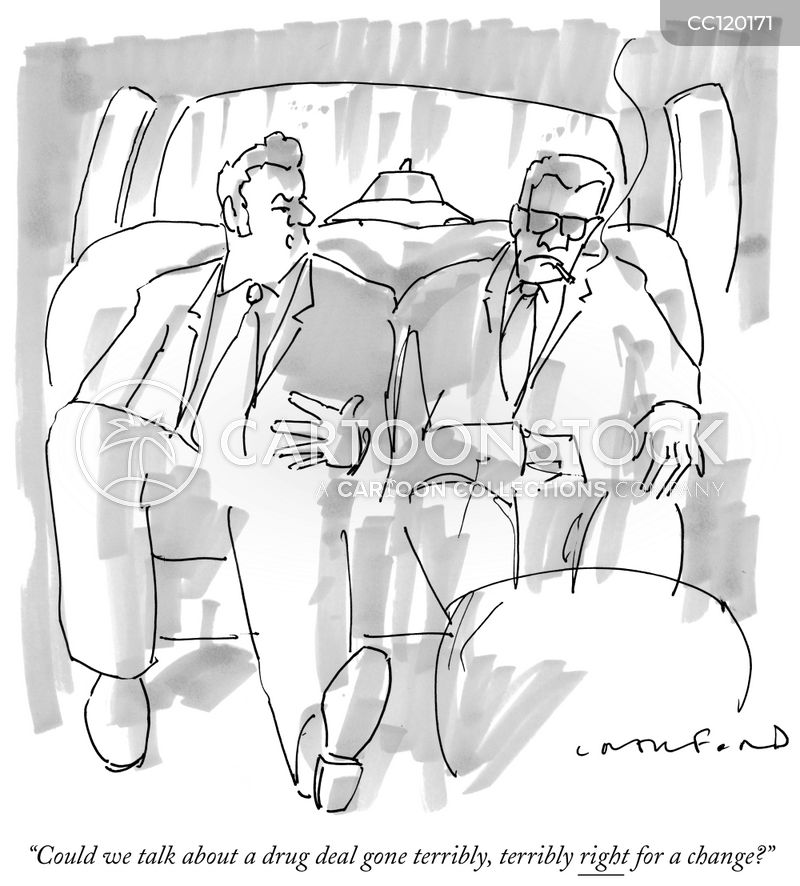 drug deal cartoon