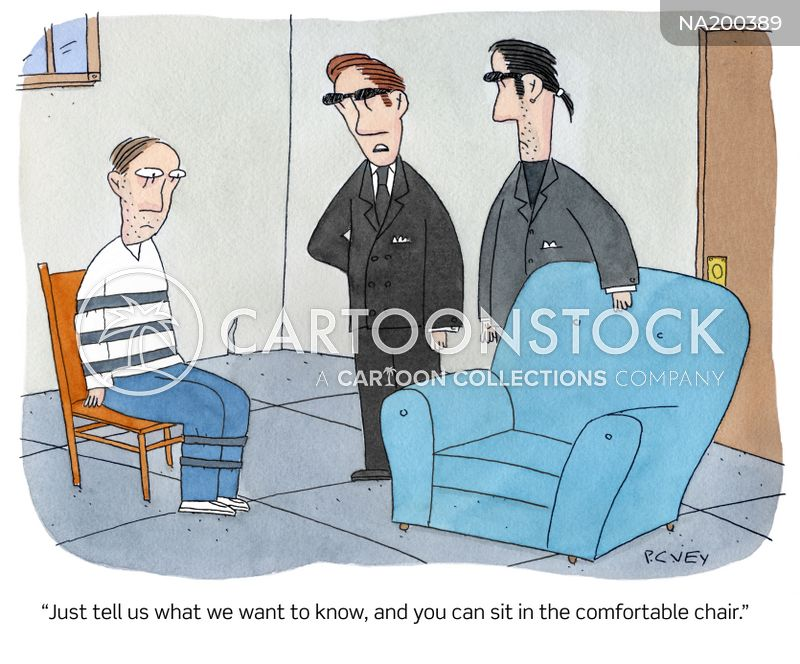 interrogating cartoon