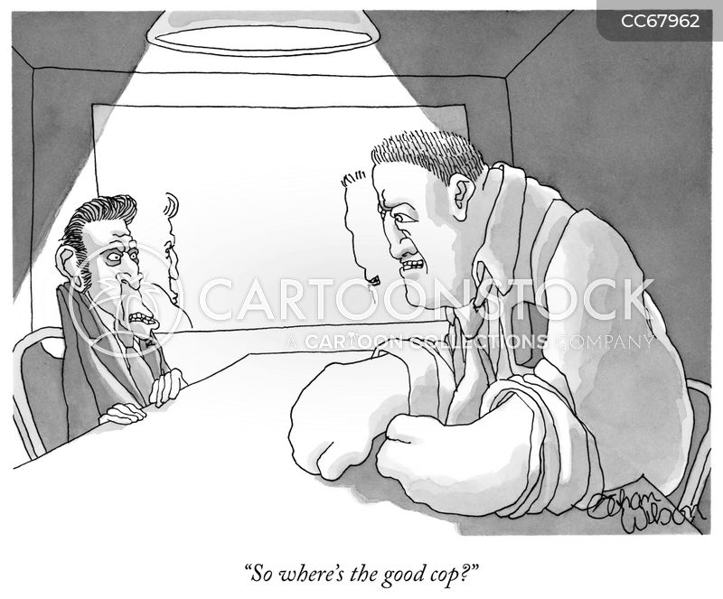 interrogation techniques cartoon