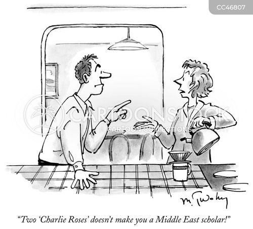 television interviews cartoon