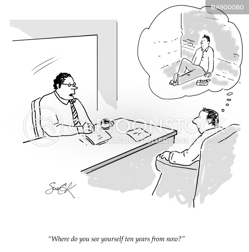 interview questions cartoon