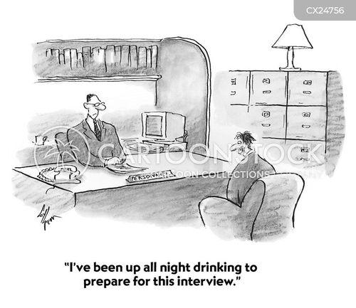 interview preparation cartoon