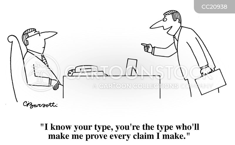false claim cartoon