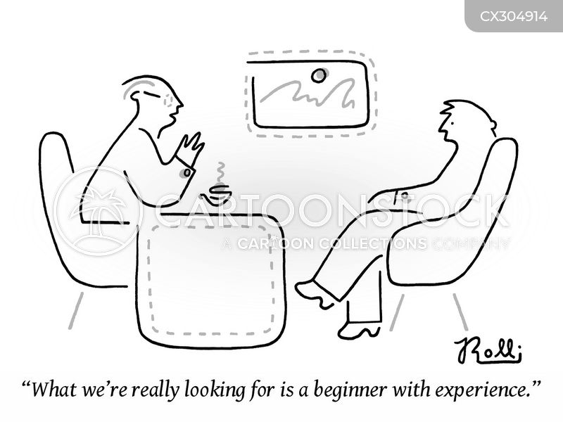 job history cartoon