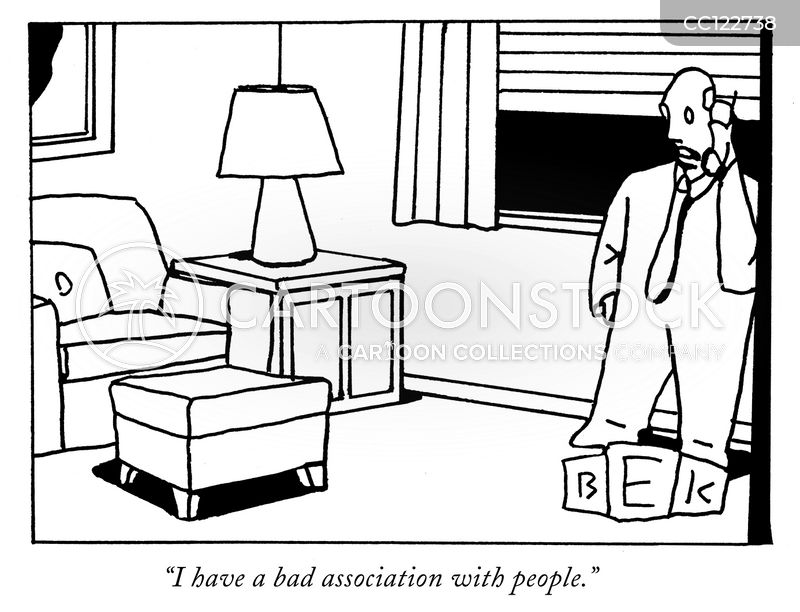 social isolation cartoon