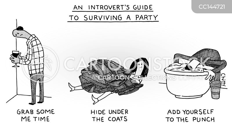 introverts cartoon
