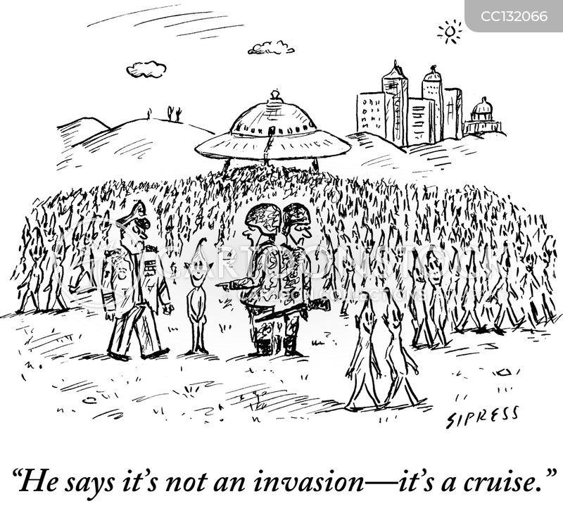 invasion cartoon