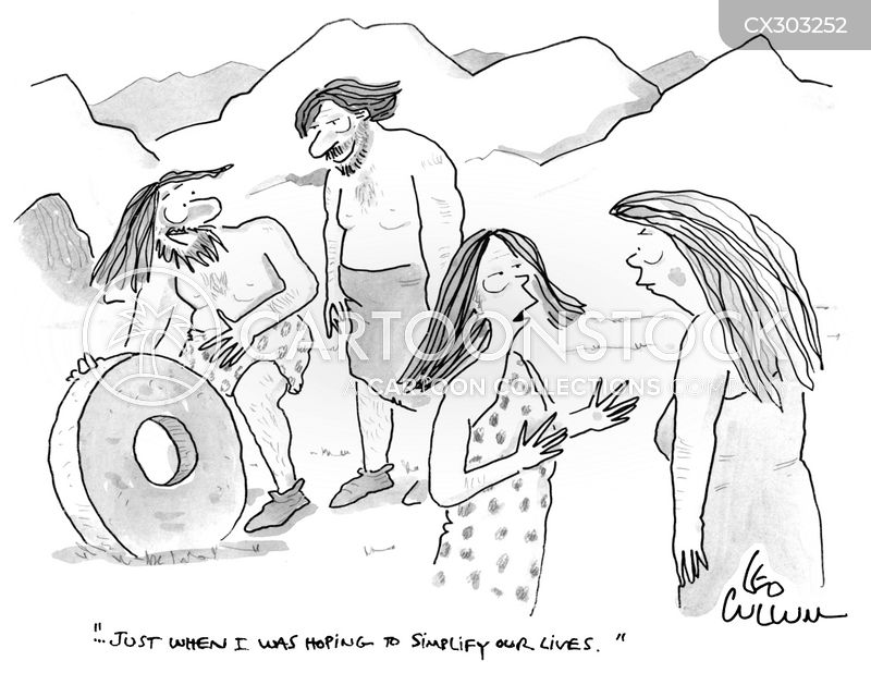 invention of the wheel cartoon