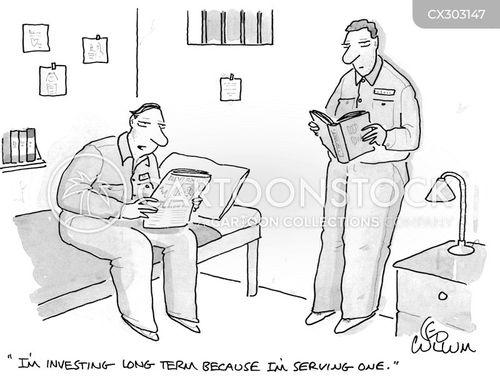 serving time cartoon
