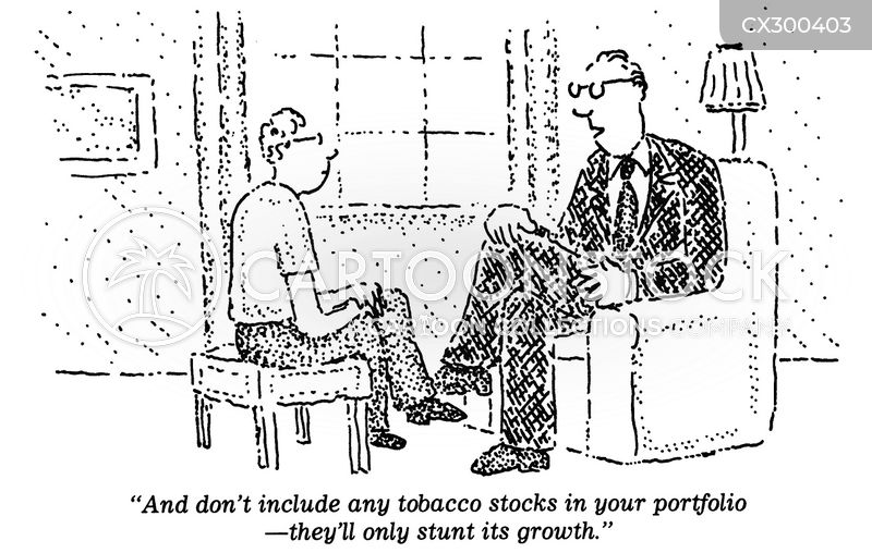 tobacco company cartoon