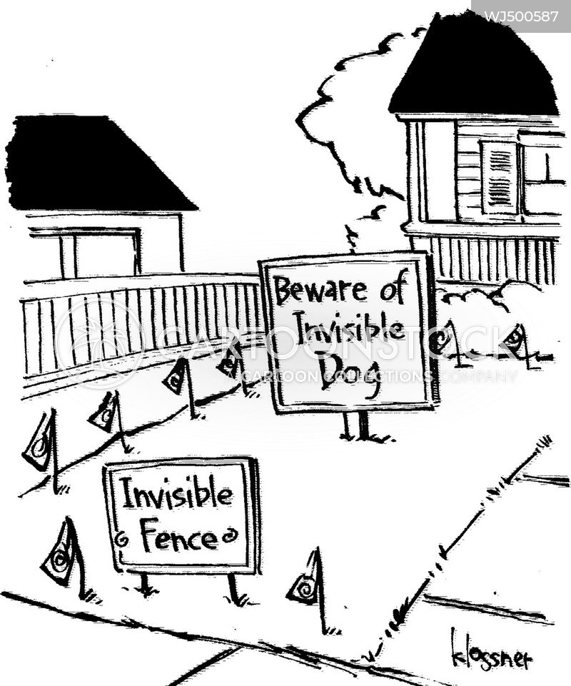 invisible fences cartoon