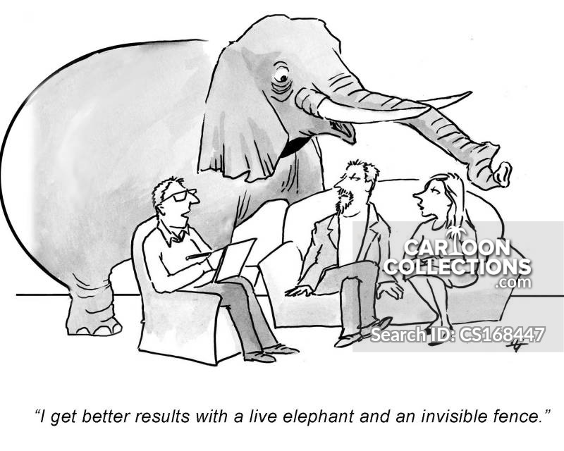 invisible elephant cartoon