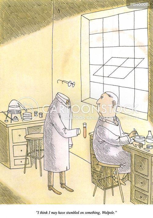 chemical reaction cartoon